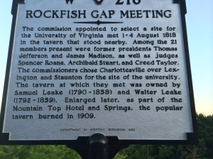 Rockfish Gap use