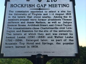 Rockfish Gap use