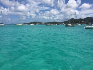 At anchor Port du Marigot 2015-03-24