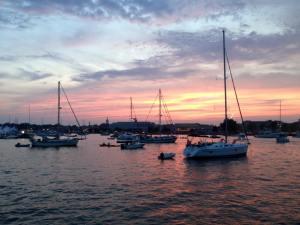 Harbor before fireworks