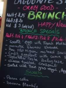 Lagoonie's Breakfast Menu
