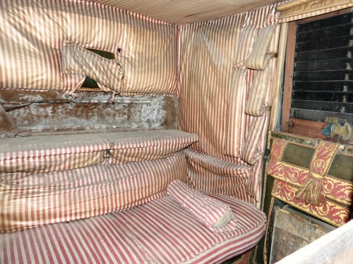 Inside a travelling chariot 2 - Red House Stables