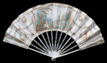 painted silk fan